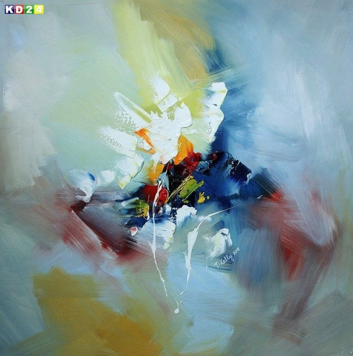 Abstrakt - Rhythm of light h78411 90x90cm Modern Art Ölgemälde handgemalt