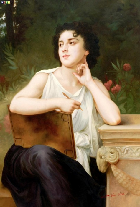William Adolphe Bouguereau - Inspiration d78797 60x90cm Ölgemälde Museumsqualität