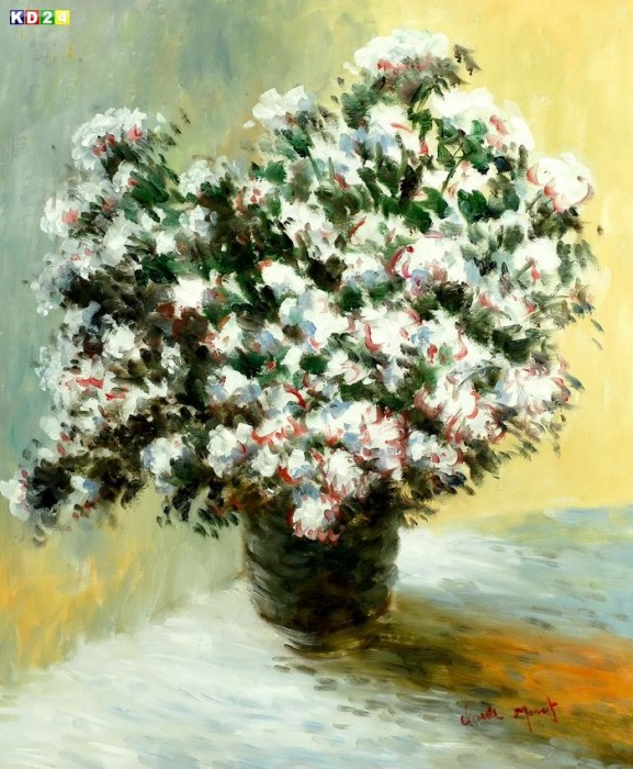 claude monet vase mit blumen c79326 50x60cm lgem lde handgemalt ebay. Black Bedroom Furniture Sets. Home Design Ideas