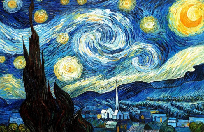 vincent van gogh sternennacht p79680 120x180cm lgem lde in museumsqualit t ebay. Black Bedroom Furniture Sets. Home Design Ideas