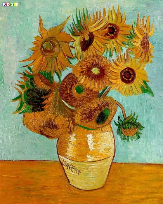 Vincent Van Gogh Zwölf Sonnenblumen B81170 40x50cm Gemälde ölbild
