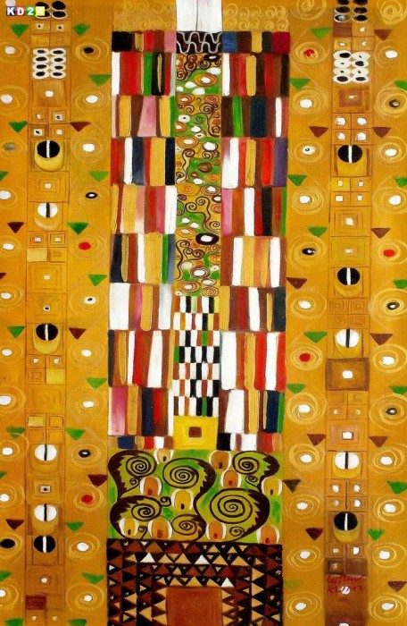 Gustav Klimt - Pattern for the Stoclet Frieze d81239 60x90cm meisterhaftes Ölgemälde Jugendstil