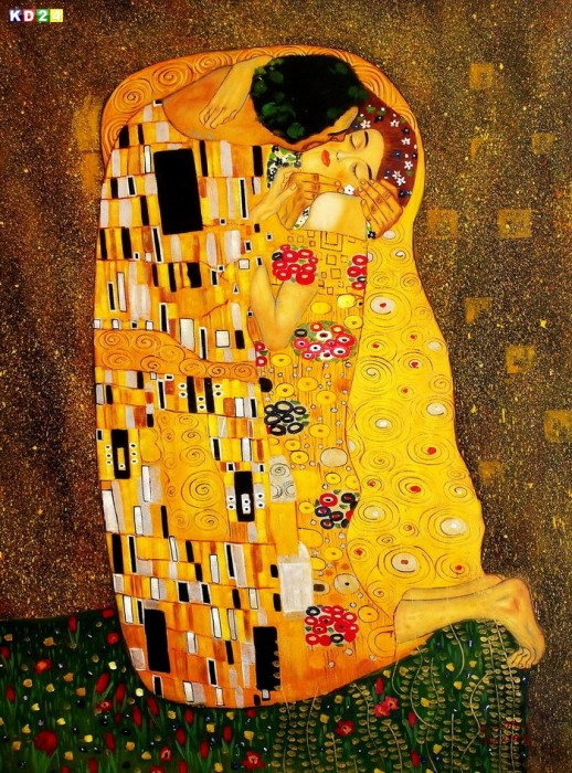 der kuss gustav klimt original images. Black Bedroom Furniture Sets. Home Design Ideas